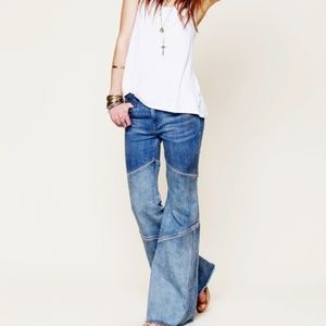 Free People Bambi seamed flare jeans sz 29